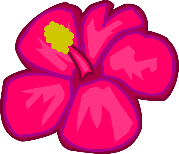 Pink flower 3 clip art at clker vector clip art online download this image as mightylinksfo