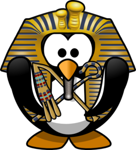 Egyptian Penguin Clip Art
