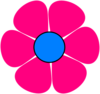 Blue Pink Flower Power Clip Art