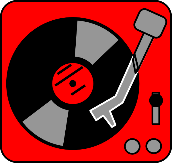 turntable red clip art at clkercom vector clip art