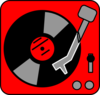Turntable Red Clip Art