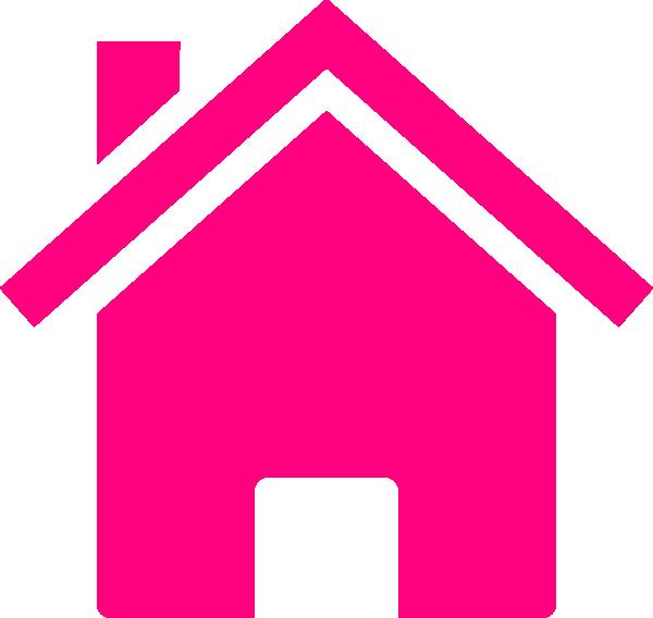 Pink House Clip Art at Clkercom  vector clip art online royalty