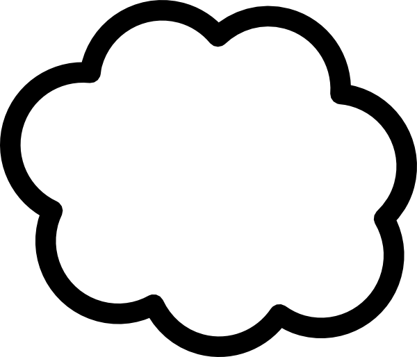 cloud shape template clip art at clker com vector clip art online