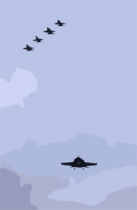 An F/a-18e Super Hornet Makes Its Approach Clip Art