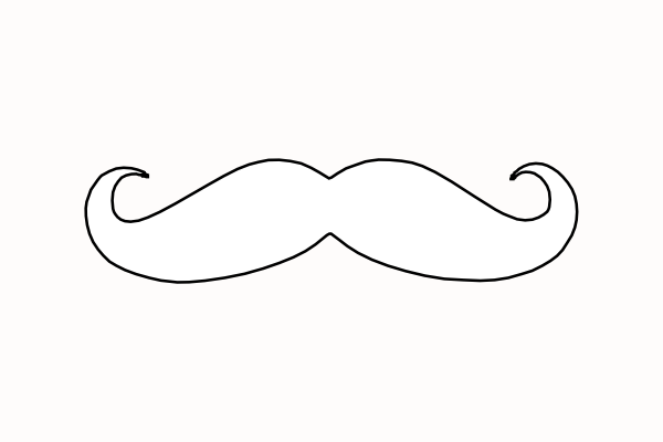 Mustache clip art at vector clip art online for Mustach template