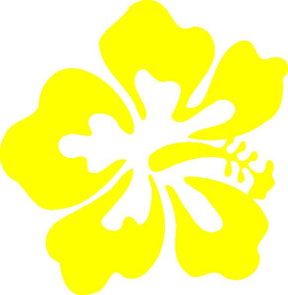 Yellow Hawaiian Flower Clip Art at Clker.com - vector clip ...