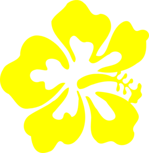 Yellow Hawaiian Flower Clip Art