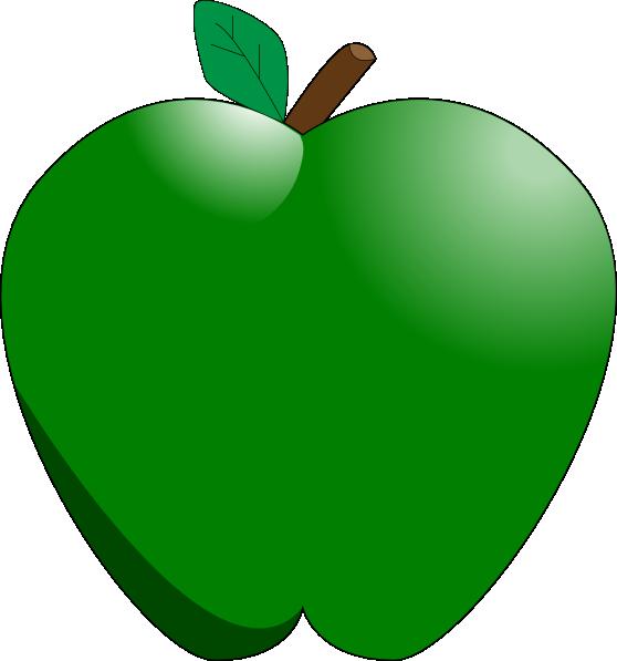 green apple clip art at clkercom vector clip art online