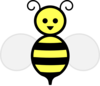 Bee, Light Yellow Clip Art