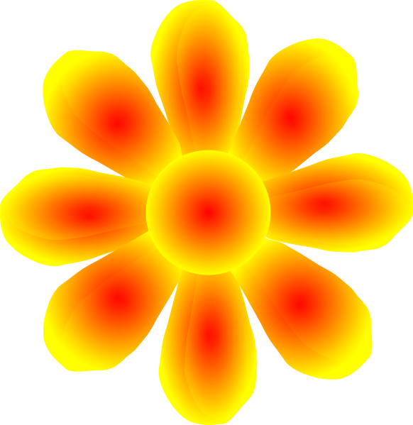 Flower yellow clip art at clker vector clip art online download this image as mightylinksfo