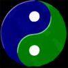 Yinyang Bluegreentextured Clip Art
