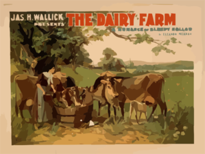 Jas. H. Wallick Presents The Dairy Farm A Romance Of Sleepy Hollow By Eleanor Merron. Clip Art