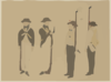 Images Of Western Military Figures. Clip Art