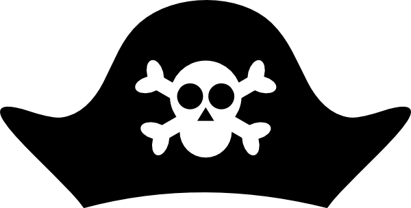 photograph regarding Printable Pirate Hats titled Pirate Hat Clip Artwork at - vector clip artwork on-line