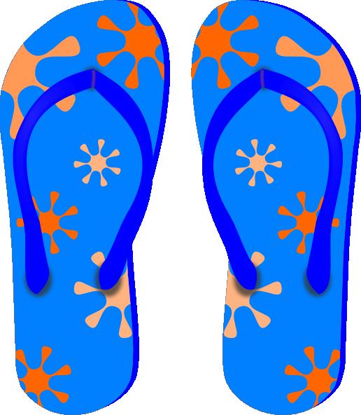 Blue Flip Flops Clip Art at Clker.com vector clip art online ...