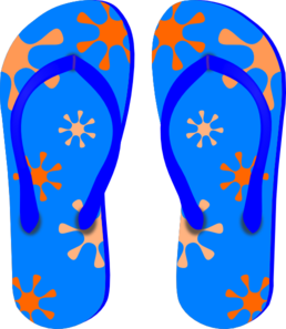 blue flip flops clip art at clker com vector clip art online rh clker com flip flop clip art free flip flop clip art png
