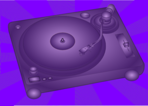 Turntable Purple Clip Art