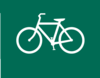 Biking Green Sign Clip Art