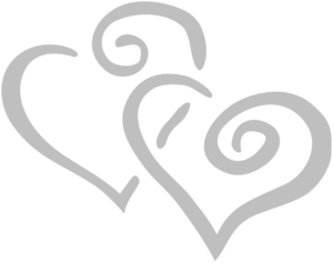 Silver Intertwined Hearts Clip Art