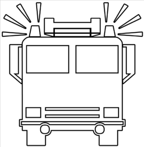 Fire Truck Outline Clip Art