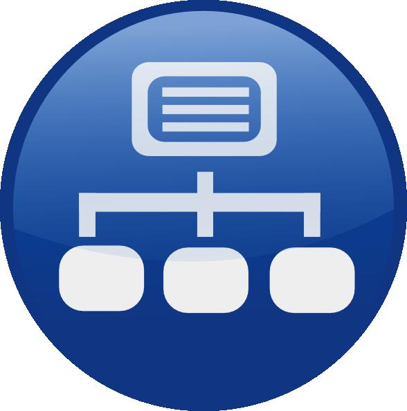 Blue Network Diagram Clip Art At Clker Com