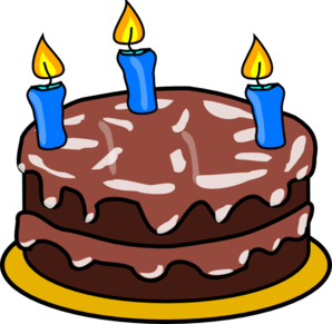 Candles Cake Clip Art