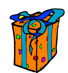 Wraped Gift Clip Art
