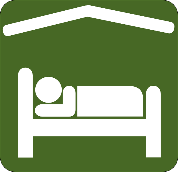 Hotel Motel Sleeping Accomodation Clip Art - Green/white ...