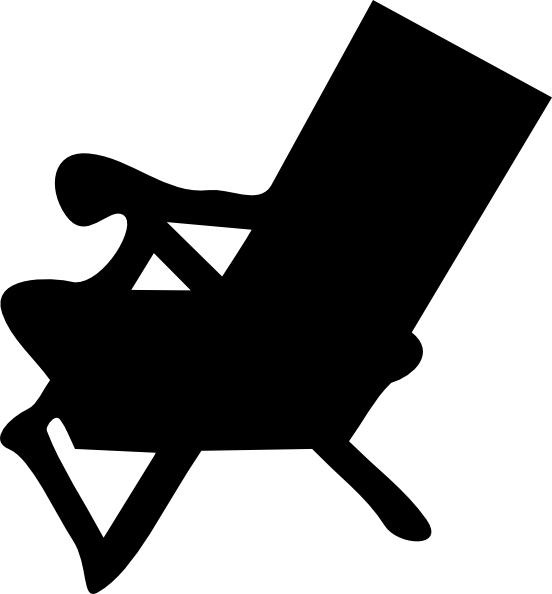 beach chair reverse clip art at clkercom vector clip