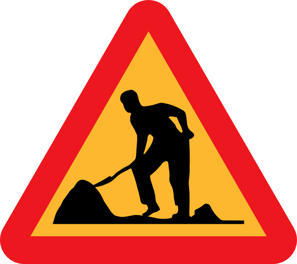Workman Ahead Roadsign Clip Art at Clker.com - vector clip ...