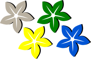 Colored Flowers Clip Art