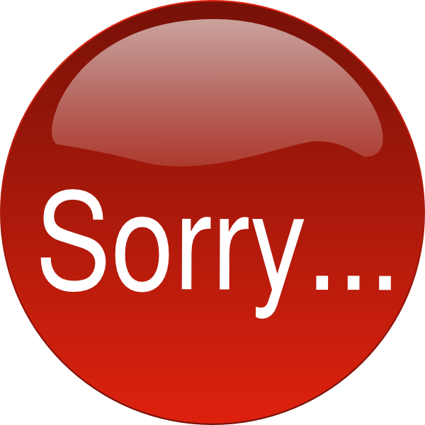 sorry clip art at clker com vector clip art online royalty free rh clker com sorry clipart black and white sorry i'm late clipart