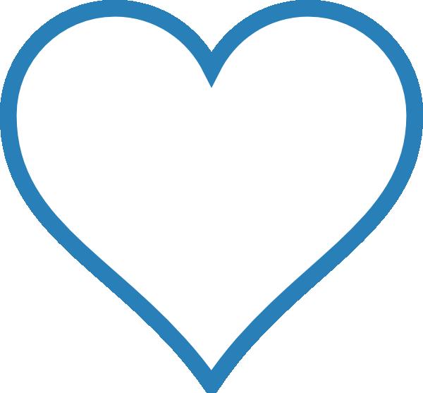 Blue Outline Heart Clip Art at Clker.com - vector clip art ...
