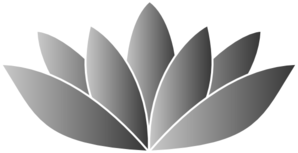 Silver Lotus Flower Clip Art