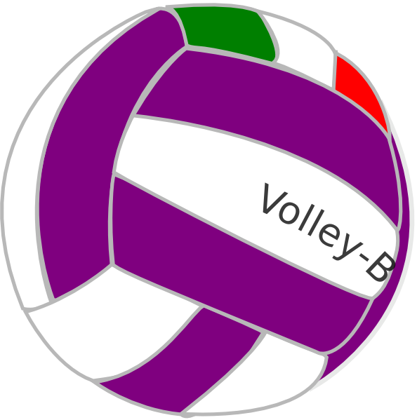 Colorful Volleyball Clipart Volleyball sppv clip art