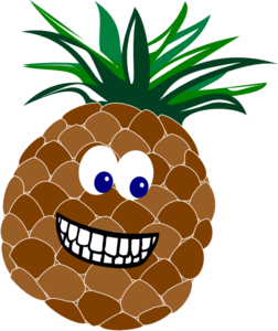 Pineapple With Face Clip Art