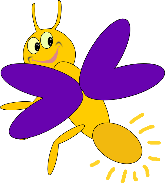 purple firefly 5 clip art at clker com vector clip art online rh clker com cartoon firefly clipart cartoon firefly clipart