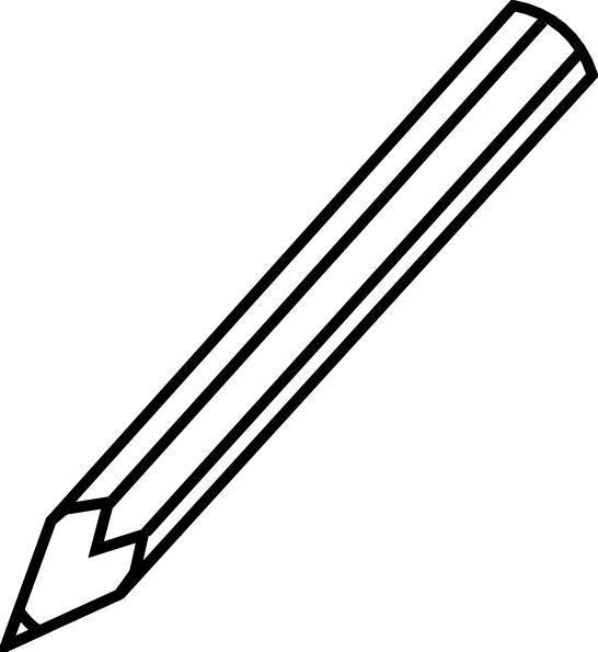 Pencil Outline Clip Art at Clker.com - vector clip art ...