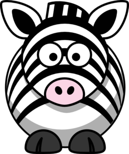 Zebra Black And White Clip Art