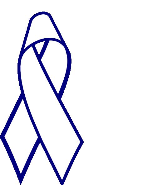 Blue Outline Cancer Ribbon Clip Art at Clker.com - vector clip art ...