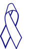 Blue Outline Cancer Ribbon Clip Art