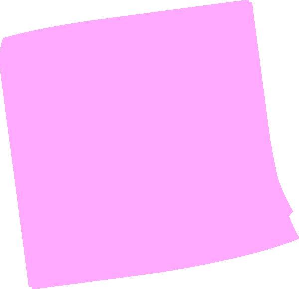 Pink Post It Clip Art At Clker Com Vector Clip Art