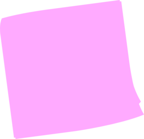 Pink Post It Clip Art