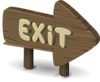 Alpine Landscape Exit Sign Clip Art