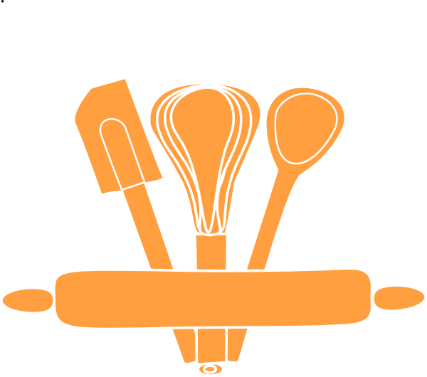 Orange kitchen utensils clip art at vector for Kitchen set png