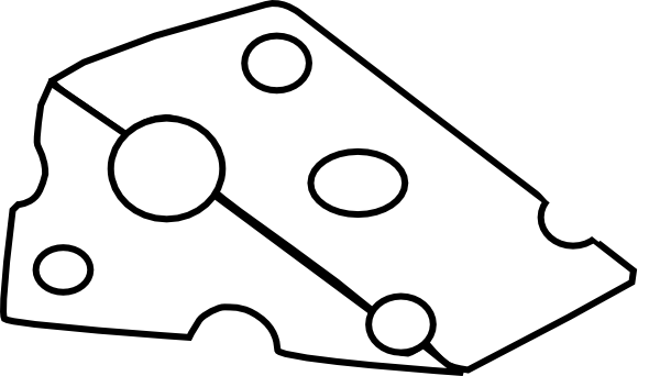 swiss cheese black and white clip art