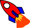 Red And Blue Rocket Clip Art
