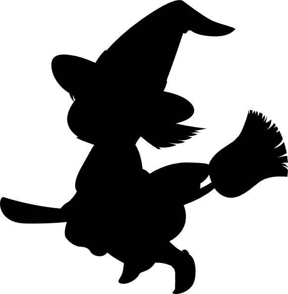 Witch Silhouette clip artWitch Head Silhouettes