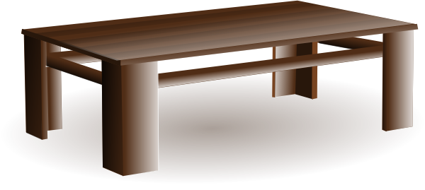 Cartoon Coffee Table Clipart 1