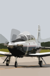 The T-6 Texan Training Aircraft Prepares To Take Off From The Flight Line At Naval Air Station (nas) Pensacola Clip Art